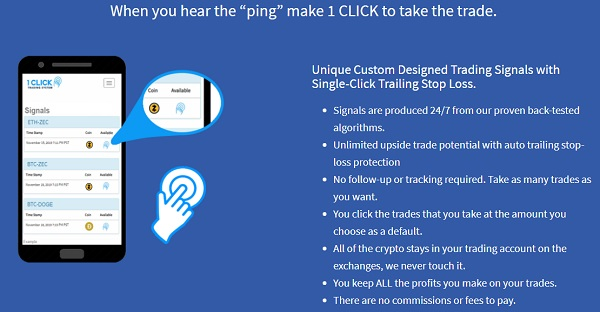 how 1 click trading system works