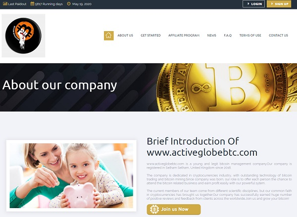 Activeglobebtc website