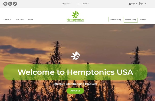 hemptonics website