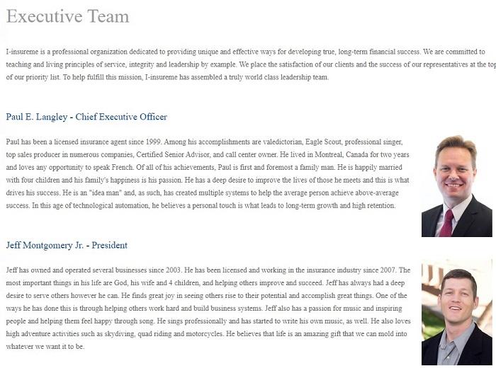 I-InsureMe executive team