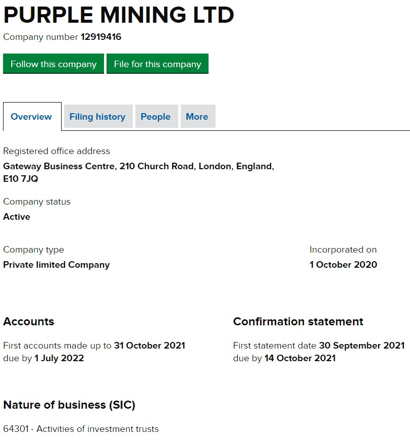 Purple Mining Ltd