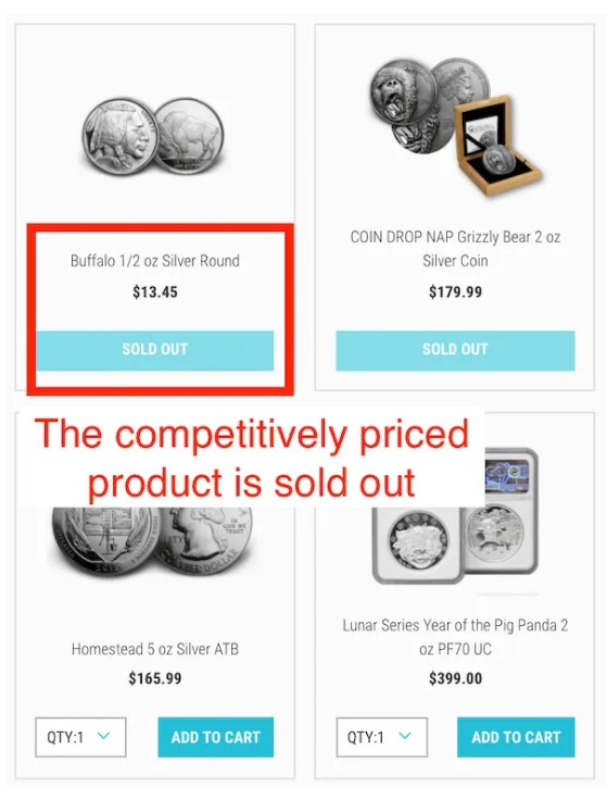 7K metal products sold out