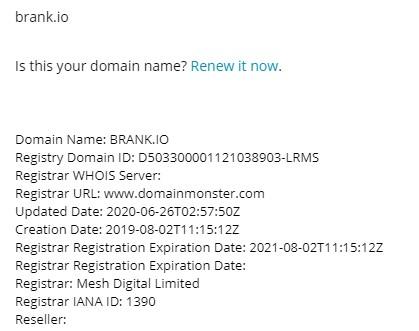 Brank domain