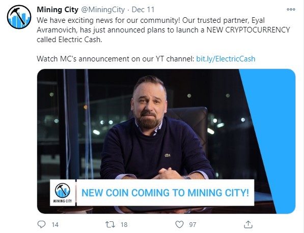 Mining City Electric Cash