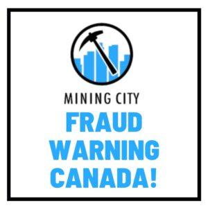 Mining city securities fraud warning canada
