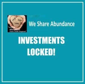 We Share Abundance investments locked