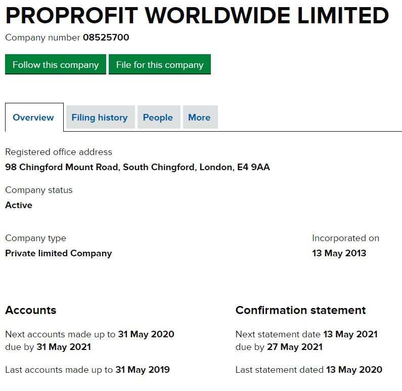 Profit Worldwide Limited