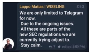 wiseling exit scamming matias lappo