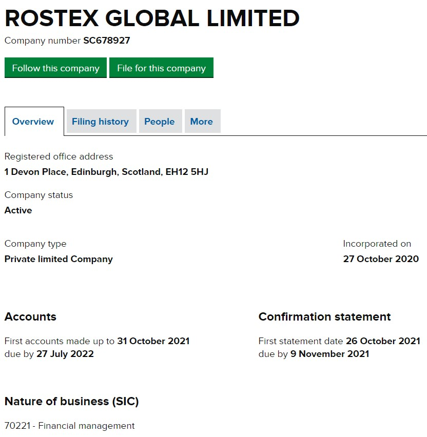 Rostex Global Limited