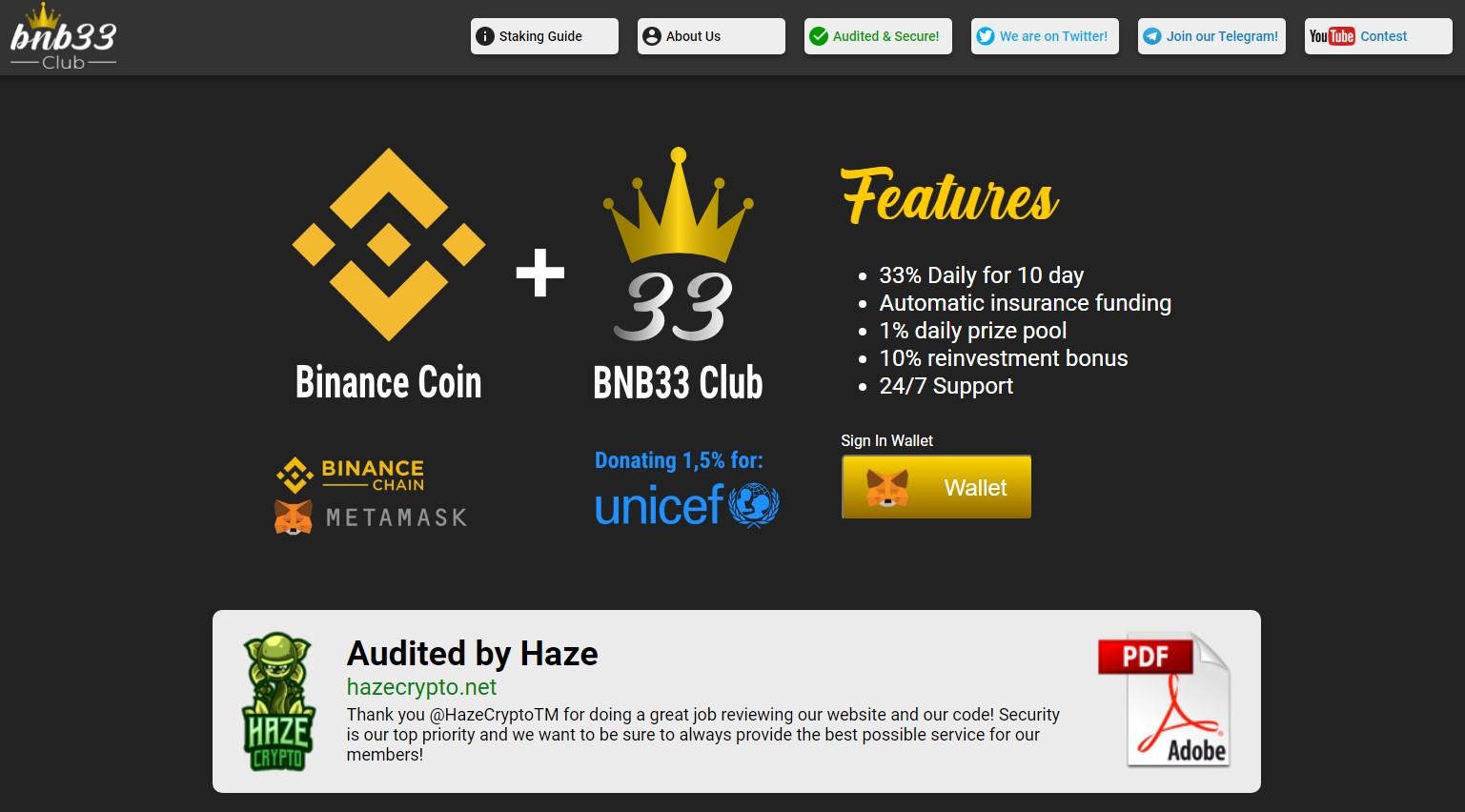 BNB33 club scam