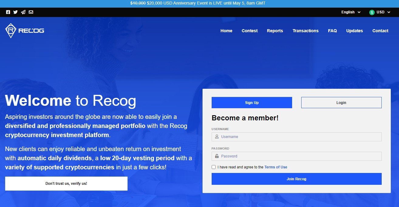 Recog Global scam