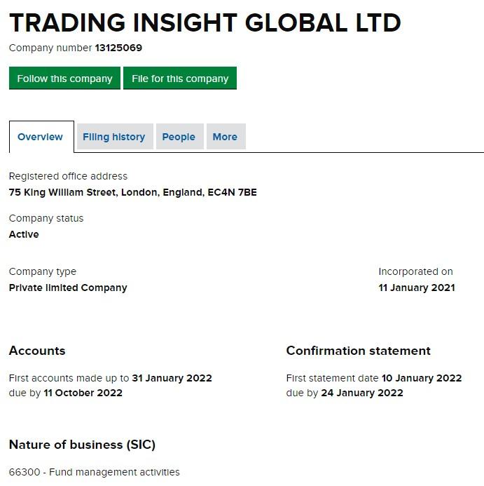Trading Insight Global LTD